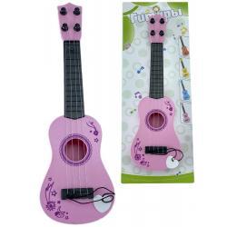 Гитара детская, цвет розовый