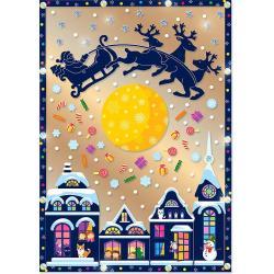 Набор для изготовления картины-антистресс Клевер Зимняя сказка, 29,5x21 см, арт. АС 43-237