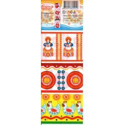 Пасхальная декоративная термоусадочная пленка Дымковская игрушка