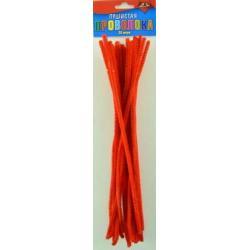Материалы для творчества Пушистая проволока, цвет красный, 30 см, 25 штук