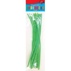 Материалы для творчества Пушистая проволока, цвет светло-зеленый, 30 см, 25 штук