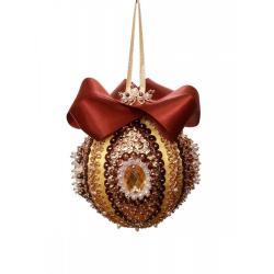 Набор для творчества Шар новогодний из пайеток. Коричневый, 7 см