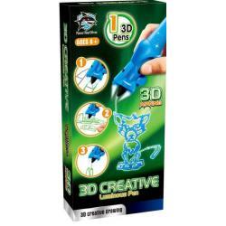 3D-ручка, детская, светящиеся чернила (цвет синий)